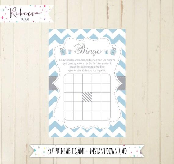 Baby Shower Bingo Game In Spanish Baby Shower In Spanish