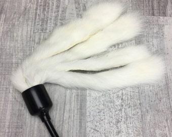 Cat toy | XL Rabbit fur cat teaser toy | Rabbit fur cat toy | Cat teaser toy | Natural fur cat toy | Interactive cat toy |