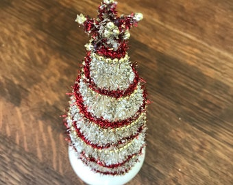 Embellished Bottle Brush Tree