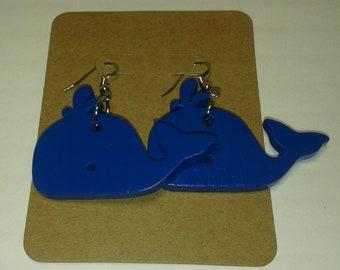 Blue Whale Earrings