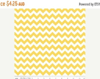 ON SALE Riley Blake Fabric - 1 Fat Quarter Small Chevron in Yellow
