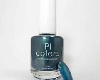 Canopy Way.055 Nail Polish Deep Green Blue White Glitter