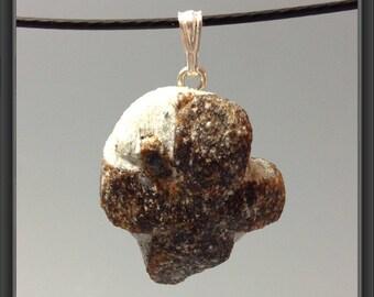 Staurolite fairy cross pendant (from Russia)
