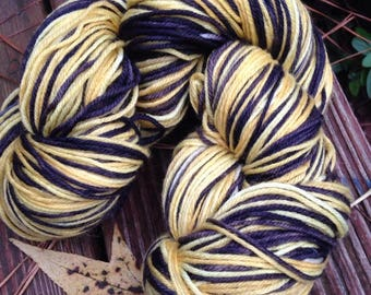 Bumble Britches - NEW hand dyed, self-striping sock yarn superwash Merino wool blend 462 yards 100 grams, natural and professional dye