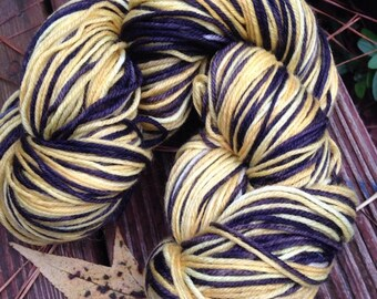 Hosen - neue Hand gefärbt, selbst-striping Socke Garn superwash Merino Wolle Mischung 462 Werften 100 Gramm, natürliche und professionelle Farbstoff Bumble