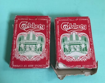 Two Packs of Vintage Carlsberg Playing Cards Elephant Design