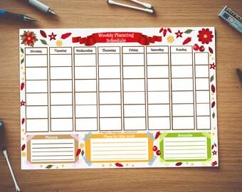 Perpetual Calendar * Calendar Printable * Size A4 * Print at home