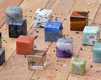 Gemstone Cube - Power of Metaphysical & Geometric Properties
