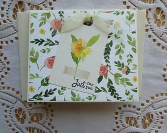 Floral Gift Card Holder