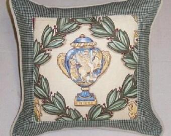 Handmade Throw Pillow Slip Cover Vase