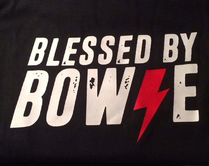 David Bowie Tribute T-shirt Blessed by David Bowie