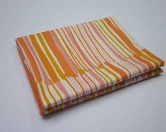 Striped Fabric - Pink and Orange Fabric - Stripes Fabric - Fabric by the Yard - Morning Walk Leah Duncan - Quilting Weight Fabric