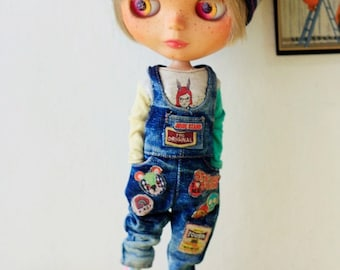 Sugarbabylove - Jean overall set for Blythe