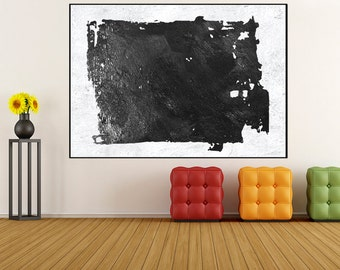 Original Acrylic Painting Abstract Wall art, black and white canvas painting