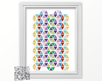 Abstract Print Hexagon Print Digital Print Abstract Art Geometric Print Art Modern Art Contemporary Art Wall Decor : A0279