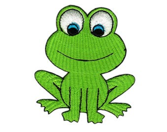 Ac36 Frog Animal Frog comic Children patch patches size 6.2 x 7.2 cm