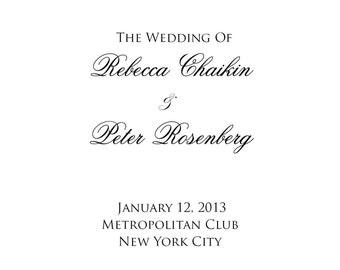 PRINTABLE - DIY Wedding Program