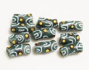 Fancy African Krobo Glass Beads, Unique Handmade Beads, Jewelry Supplies (*AM30*)