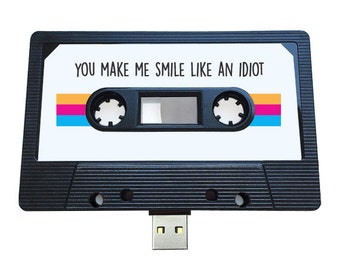 4GB/8GB/16GB USB Mixtape- Retro Quirky Personalized Gift- Hipster, Birthday , Funny , DJs ,  Music Lover , Present , Girlfriend , Valentines