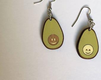 Avocuddles Avocado Drop Earrings | Handmade Avocados Dangle Jewelry