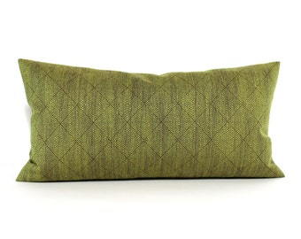 Lumbar Pillow Cover Green Pillow Diamond Upholstery Fabric Oblong Decorative Pillow Throw Pillow Cover 14x26 12x24 12x21 12x18 12x16 10x20