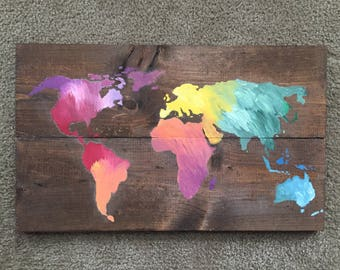 Wooden World Map