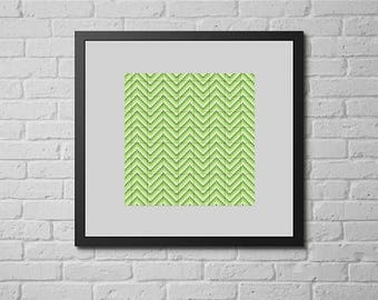 Green chevron (cross stitch pattern)