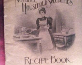 Sale-Notable Household Specialties recipe Booklet