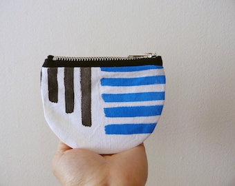 Hand painted fabric coin purse