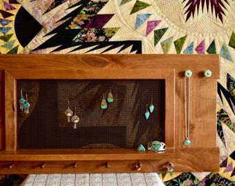 Jewelry Display // Earring Display // Jewelry Organizer // Jewelry Organizer Wall // Jewelry Hanger // Earring Hanger