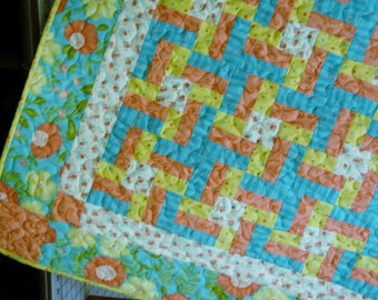 Quilt Pattern - Lovely Little Pinwheels Crib or Throw Quilt Pattern - EASY -Hard Copy Version - FREE SHIPPING!!