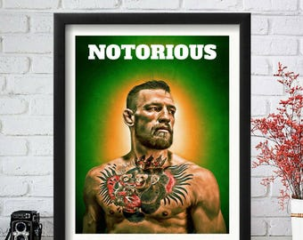 Conor McGregor Poster, Conor McGregor Art, Conor McGregor Print, UFC Poster, UFC Art, MMA Poster, Notorious Poster, Fighting Poster