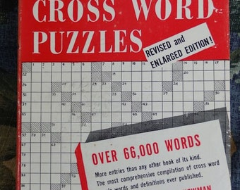Dictionary for Cross Word Puzzles Copyright 1957 Over 66,000 Words Revised Enlarged