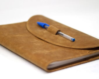 Handstitched Leather Composition Notebook Cover.Handmade.Gift For Her.Gift For Him.Gift For Student.Gift for Writer.Gift for Artist.Honey