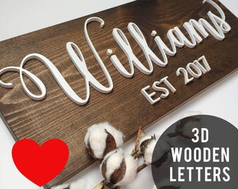 wedding last name sign, wedding established family sign, last name signs, established sign, family name sign wood, last name wall decor