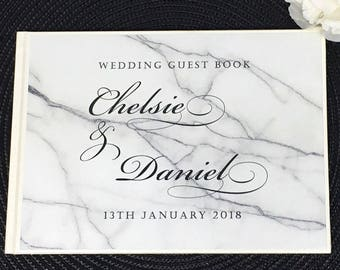 Personalised Guest Book - Marble