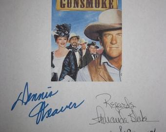 Gunsmoke Signed TV Script Screenplay X5 Autograph Jim Arness Dennis Weaver Amanda Blake Milburn Stone Dabbs Greer Classic Western Show