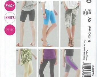 McCalls 6360 - MISSES Leggings / Sizes 6, 8, 10, 12, 14