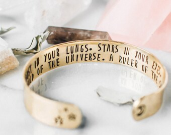 Child of the universe quote bracelet. Hand stamped inspirational quote bracelet. Secret message quote bracelet. Inspirational gift RTS-CB020