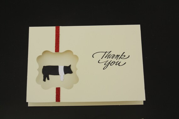Show Pig Thank You Cards 4 Pack