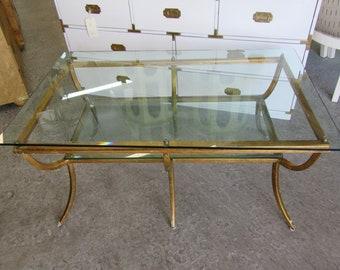 Gold Gilt Metal Coffee Table