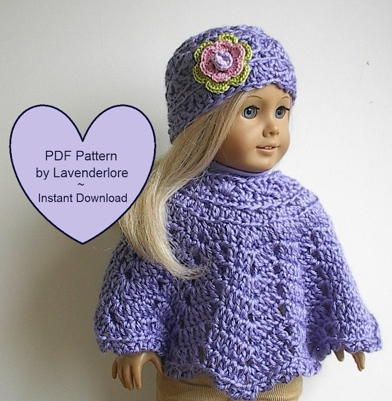 Irish Rose Poncho and Hat Crochet Pattern