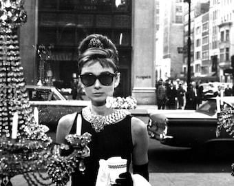 Audrey Hepburn Breakfast at Tiffany's Hollywood Poster Art Photo Artwork 11x14 or 16x20