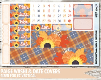 Paige Date Covers & Washi Planner Stickers