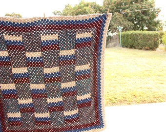 Desert Night Wool Crocheted Throw