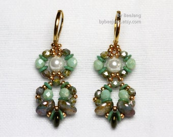 PDF Tutorial - Ardia Earrings Beading Pattern Instant download Beadweaving Instruction
