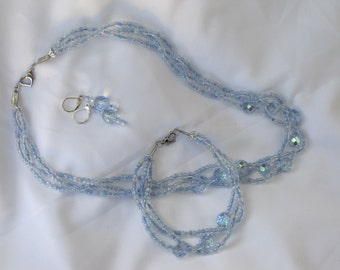 Ice Queen Necklace and Earrings Set