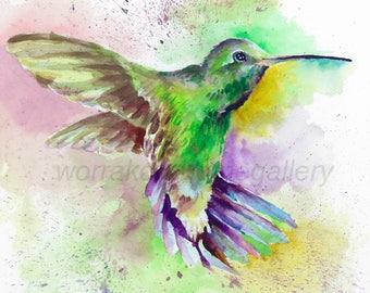 Dancing bird; watercolor print instant download, watercolor paining, wall decor