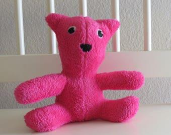 Soft and Fluffy Pink Magenta teddy bear stuffed animal
