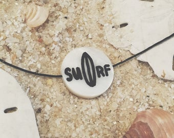 Hand-Painted Surf Necklace